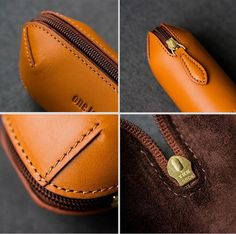 Best 12 Cool Leather Mens Leather Tobacco Pipe Case Zipper Tobacco Pipe Case f – iChainWallets Sewing Leather, Leather Pattern, Leather Craft, Leather Men, Leather Jackets, Pink Leather, Leather Glasses Case, Leather Makeup Bag, Couture Cuir