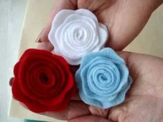 How to make a little felt rose with a 4 inch circle of felt!  Awesome results with very little effort!  Lovely accessory to add to hats, headbands, brooches, barrettes, bags, etc.  A very durable and compact little rose!  LINK TO ALL MY FABRIC FLOWER TUTORIALS: https://www.youtube.com/playlist?list=PLcftnGM6Vk-TI1U8ZCwanAbr--2lw17Bm=view...