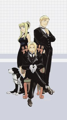 Mes amours #EdwardElric #AlphonseElric #WinryRockbell #FMA