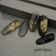 Klimt, Nail Atelier, Japan Nail, Gel Nail Art, Manicure And Pedicure, Diy Nails, Nail Inspo, Nails Inspiration, Beauty Nails