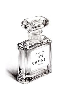 Chanel Perfume Bottle Colour Pencil Drawing Limited Edition Print by… Pencil Art Drawings, Realistic Drawings, Drawing With Pencil, Pencil Sketching, Charcoal Drawings, Graphite Drawings, Shading Drawing, Drawing Faces, Bottle Drawing