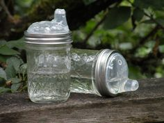 Canning Jar Sippy cup  quilted by onerobinroad on Etsy