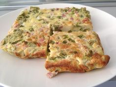 Frittata con gambi di asparagi (ricetta di riciclo)
