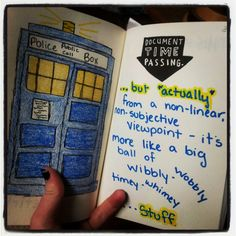 Wreck this journal - Dr. Who Quote