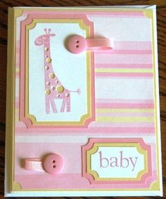 Giraffe Baby Card by JasaVA - Cards and Paper Crafts at Splitcoaststampers