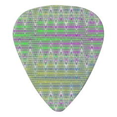 Colorful pattern guitar picks #zazzle #music #gifts
