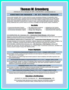 construction project manager resume for experienced one must