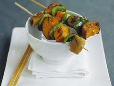 Gemüsespieß mit Kürbis und Paprika |