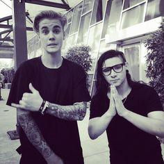 Justin Bieber And Skrillex♥