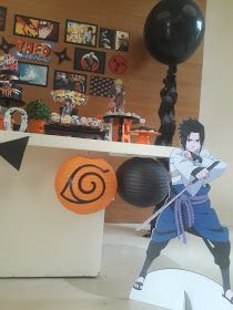Atelier Dani Simões: Festa Naruto Bolo Do Naruto, Naruto Y Sasuke, Anime Naruto, Naruto Party Ideas, Naruto Birthday, 10th Birthday Parties, Cute Desserts, Diy Party, Best Part Of Me