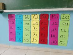 Την περσινή χρονιά στην Τάξη Υποδοχής ΖΕΠ που είχα αναλάβει, έφτιαξα ένα μικρό παιχνιδάκι για να προσεγγίσουμε τις πρώτες συλλαβέ... Learn Greek, Grammar Exercises, Class Dojo, Material Board, Greek Alphabet, School Psychology, Occupational Therapy, First Grade, School Projects