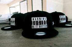 Image of Warning Sucios Black hats