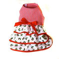 dog dress small dog dress ruffle dog dress by CreationsAnneClaude Dog Dresses, Little Dresses, Ruffle Dress, Ruffles, Dog Closet, Flannel Dress, Cherry Dress, Cat Sweaters, Red Gingham