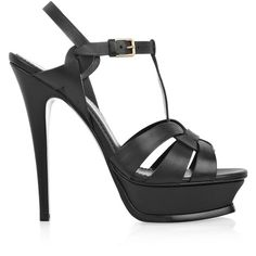 Yves Saint Laurent Tribute leather sandals ❤ liked on Polyvore