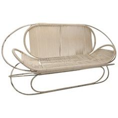 Walter Lamb Brown Jordan Settee - The Manner Of Walter Lamb Mid-Century Modern Modern Armchair, Modern Sofa, Mid-century Modern, Antique Furniture, Cool Furniture, Modern Furniture, Furniture Design, Modern Patio