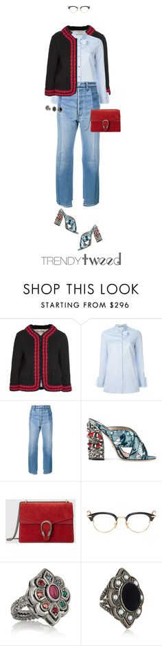 """""""11/365: Trendy Tweed"""" by liska-lis ❤ liked on Polyvore featuring Gucci, Vetements, Thom Browne, women's clothing, women, female, woman, misses and juniors"""