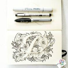 Letter D #calligrafikas #grafikas #dreweuropeo #illustration #grafikaflora #moderncalligraphy #lettering #handlettering #brushlettering #lineart #penandink #grafikasalphabetseries Paper: Moleskine Sketchbook Pen: Copic Multiliner .35, Uniball Air,...