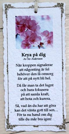 Krya på dig - Diktkort Words Quotes, Wise Words, Me Quotes, Verser, Fina Ord, Learn Swedish, Swedish Language, Proverbs Quotes, Pep Talks