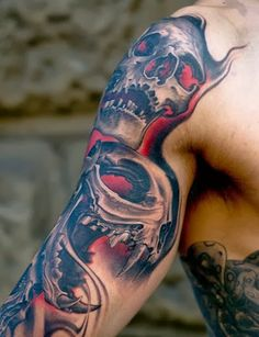 25 AWESOME SKULL SLEEVE TATTOOS AND DESIGNS | How to Tattoo?