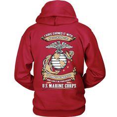 US Marine Corps Blood, Sweat, and Tears Hoodie