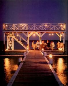 i hope that our rehearsal dinner on the dock at #centerforwoodenboats will look as romantic as this #glassybaby #summernights