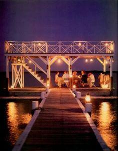 dinner on the dock....