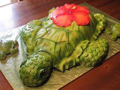 Sea Turtle with babies cake