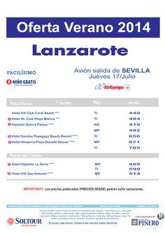 Lanzarote: Oferta hoteles en Lanzarote, salida 17 Julio desde Sevilla ultimo minuto - http://zocotours.com/lanzarote-oferta-hoteles-en-lanzarote-salida-17-julio-desde-sevilla-ultimo-minuto/