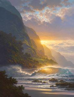 Tabora Paintings | Roy González Tabora 1956 - Hawaiian pintor Seascape