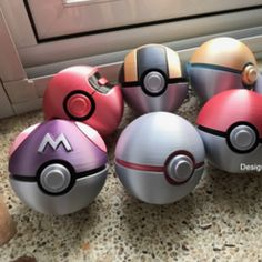 Pokemon Tretta - Mini collection box by cycstudio - Thingiverse Print 3d, 3d Prints, Impression 3d, Imprimente 3d, Real Pokeball, 3d Printer Projects, 3d Projects, 3d Printing Service, Card Storage