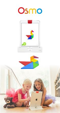 Osmo is a unique gaming accessory for the iPad that comes with games and will change the way your child plays.  Play Newton, Masterpiece, Words, and Tangram!