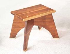 How to Make a Footstool  A small wood stool fits together with clever joints.