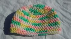 Crocheted Baby Hat 3-6m by SpookyStitchcraft on Etsy