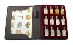 Cigar Aroma Kit - 12 aromas by Aromaster for cigar Tasting and Education. List of cigar aromas included in the kit: 1.hay, 2.tree moss, 3.earth, 4.black tea, 5.cedar, 6.liquorice, 7.black pepper, 8.clove, 9.almond, 10.leather, 11.toast, 12.caramel