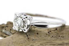 SALE Vintage Engagement Ring Diamond Ring by FergusonsFineJewelry
