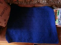 Blue crochet blanket