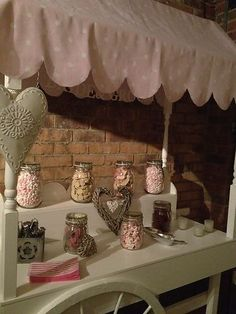 Traditional Vintage Candy Cart