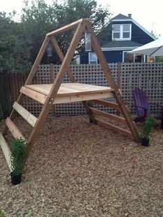 A-frame playhouse for the kids! Came out great! http://smallhousediy.com/category/building-a-playhouse/ #kidsoutdoorplayhouse