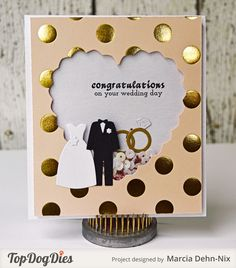 Congratulations on your Wedding Day - Scrapbook.com - It is wedding season! This would make the perfect handmade card!