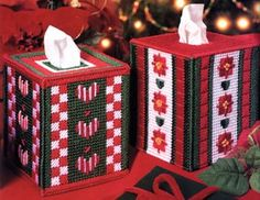 Free Plastic Canvas Tissue Box Patterns | Christmas Tissue Box Cover Plastic Canvas Patterns ePattern - Leisure ...