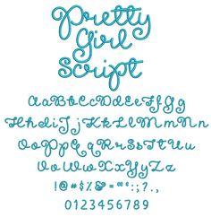 Pretty Girls Script Embroidery Font
