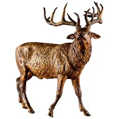 Imperial Red Stag Vienna Cold Bronze   From a unique collection of antique and modern bronzes at http://www.1stdibs.com/furniture/more-furniture-collectibles/bronzes/