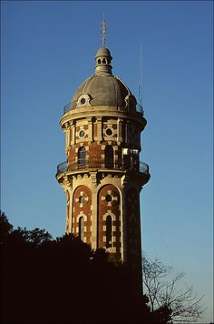 Water tower in Vallvidrera, Barcelona, Spain - photo by Ron Layters, via Flickr
