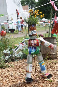creative recycling ideas for the garden