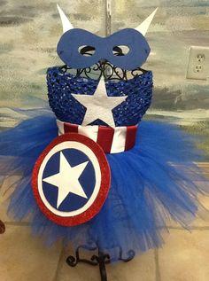 Captain America tutu costume. $44.99, via Etsy.