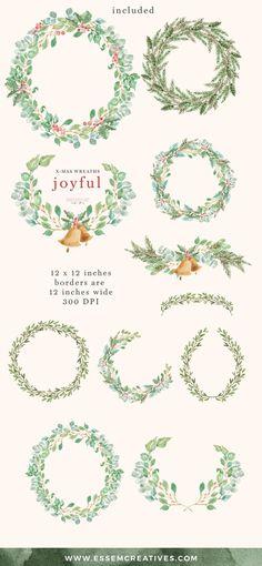 Weihnachtsgebäck Clipart.Die 7 Besten Bilder Von Christmas Wreath Clipart Alyanagrafica In 2018