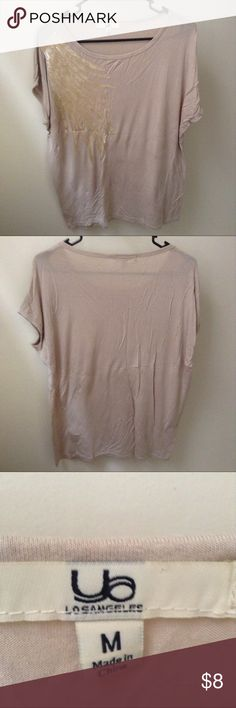 Beige Blouse Has a gold embellishment across one side. Measurements and materials upon request. Tops Blouses
