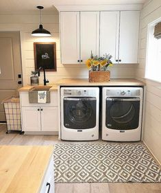 21 Laundry Room Makeover Ideas - Captain Decor, modern farmhouse laundry room with laundry room organization, laundry room storage, neutral laundry room with open shelves Country Laundry Rooms, Mudroom Laundry Room, Laundry Room Remodel, Laundry Room Cabinets, Small Laundry Rooms, Laundry Room Organization, Laundry Room Design, Laundry In Bathroom, Organization Ideas