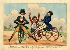 Hobbies or attitude is every thing. Dedicated with permission to all Dandy Horsemen.  © The Trustees of the British Museum.  William Heath (?) 1819