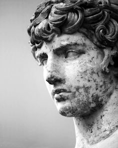 """Antinous"", c.117-38 AD. Archaeological Museum of Delphi, Greece. (This cult statue of Antinous was discovered in the Temple of Apollo at Delphi in 1893)"